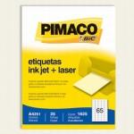 Etiqueta Ink-Jet A4 c/ 25 Folhas Pimaco