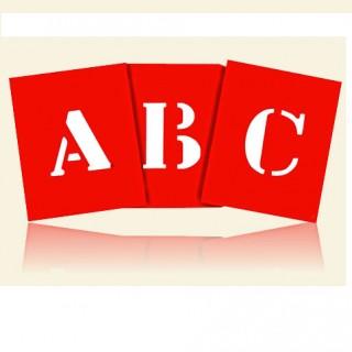 Gabarito de Letras e Números Compactor