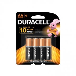 Pilha Alcalina AA Duracell